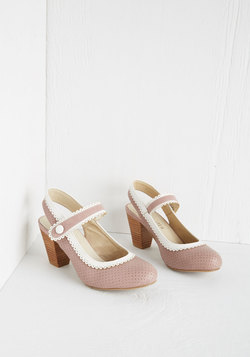 Be Bright There! Heel in Dusty Rose