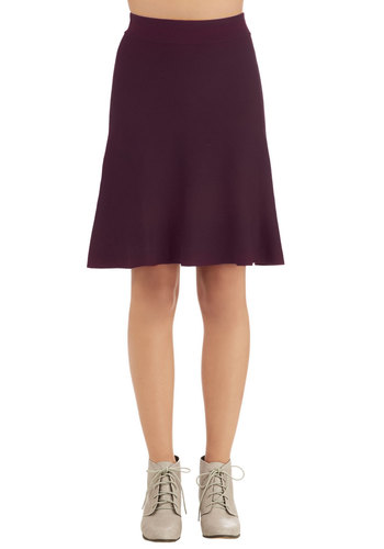 Stop and Stereo Skirt in Plum