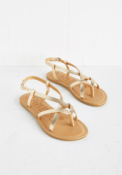 Slingback to the Beach Sandal in Gold