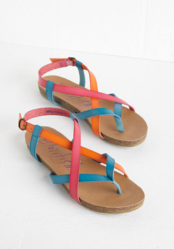 Everyday Nonchalance Sandal in Rainbow