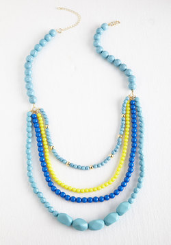 Pep It Up Necklace in Blue Sky