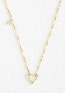 Delicate Details Necklace in Triangle