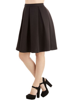 Emphasize the Adorable Skirt in Black