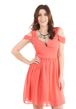 Bonne Jovial Dress in Coral