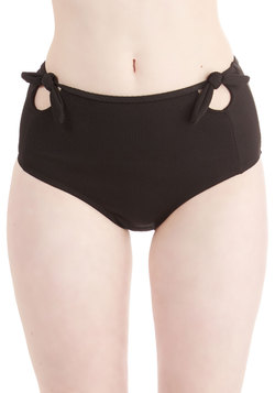 Pool it Together Swimsuit Bottom in Black