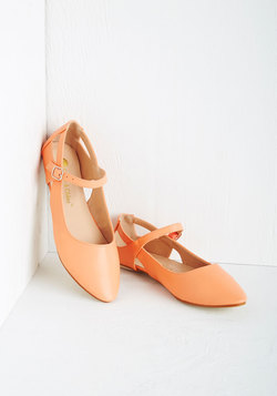 Pittsburgh Ease Flat in Peach