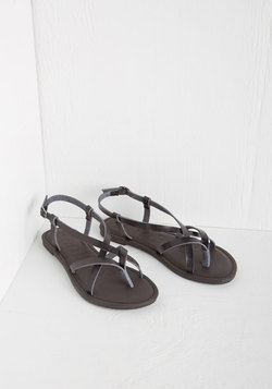Slingback to the Beach Sandal in Black