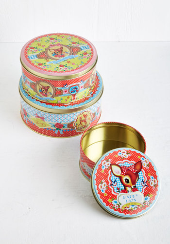 Sweet Sweet Fawn-tasy Container Set - Multi, Quirky, Good, Print with Animals, Vintage Inspired, Bird, Woodland Creature