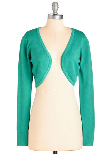 Opt for Cropped Cardigan in Teal