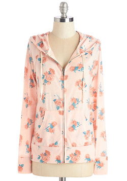 Try a Little Loveliness Hoodie in Peach