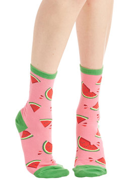 These Fruits are Made for Walkin' Socks in Melon