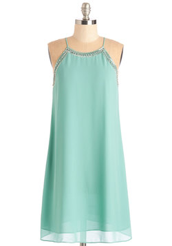 Gallery Curator Dress in Aqua