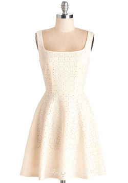 Split Precision Dress in Ivory