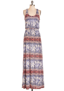 Breezy Night Stroll Dress in Damask