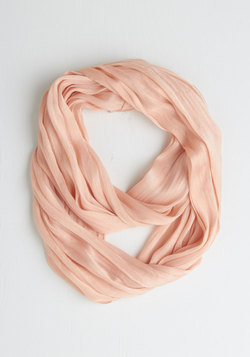 Brighten Up Circle Scarf in Blush