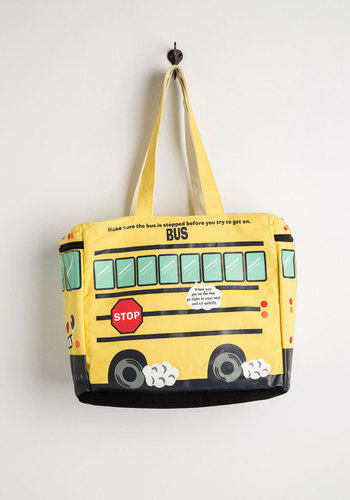 Play It School Tote - Yellow, Multi, Travel, Scholastic/Collegiate, Work, Fall