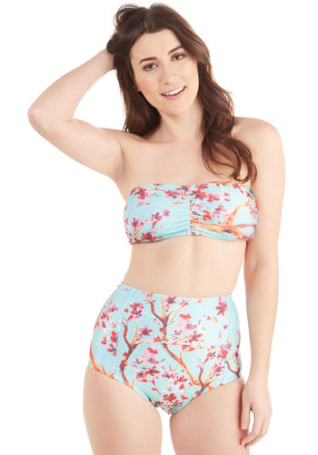 Lively to See You Two-Piece Swimsuit in Garden
