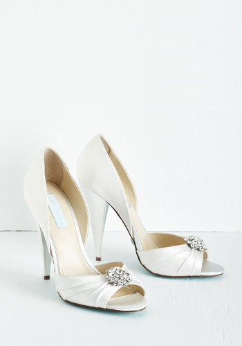 Fancy and You Know It Heel in Ivory