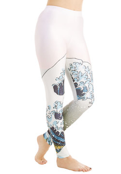 Imaginative Merriment Leggings in Wave