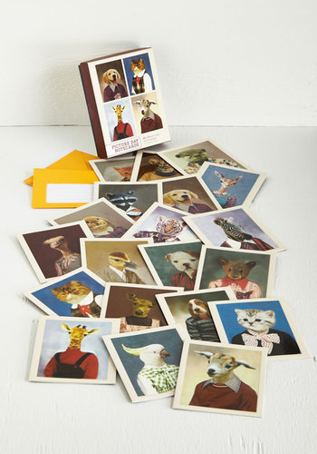 Heads or Tails Notecard Set by Chronicle Books - Multi, Quirky, Good, Print with Animals, Hostess, Dog, Under $20