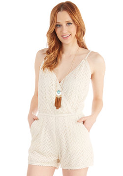 Only Pearl in the World Romper in Opal