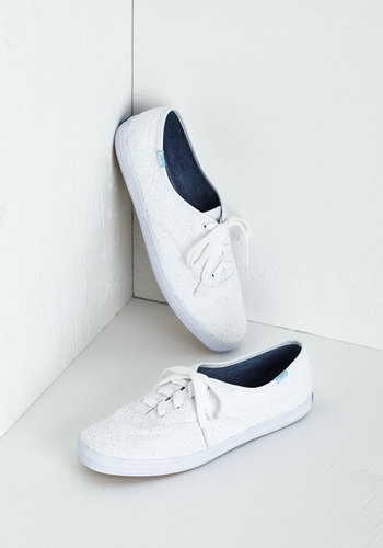 Eyelet the Good Times Roll Sneaker in White