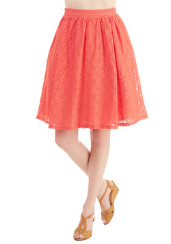 A Presh Start Skirt in Coral
