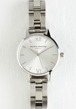 Teacup and Running Watch in Silver - Midi