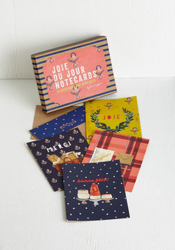 In Bonjour Own Words Notecard Set