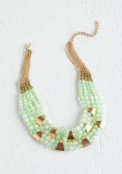 Vintage Wedding Style - Put a Bling On It Necklace in Mint