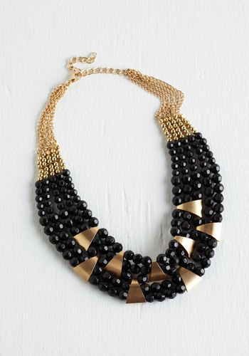 Put a Bling On It Necklace in Black