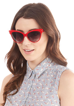 A Classic Treat Sunglasses in Ruby