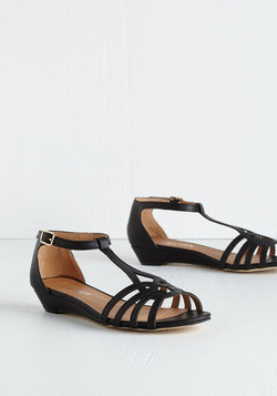 Wanna Prance with Somebody Sandal in Black