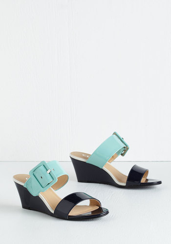 Waiting to Waltz Wedge in Navy