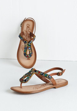 Stop and Glisten Sandal
