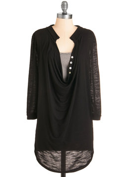 Quiet Day Tunic in Black