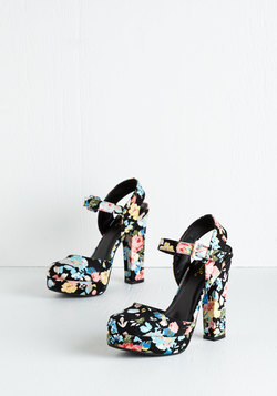 Strut a Delight Heel in Floral