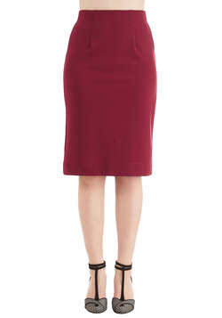 Big City Shopping Skirt in Cranberry