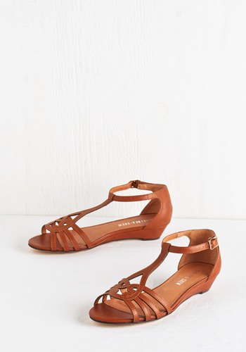 Wanna Prance with Somebody Sandal in Cognac