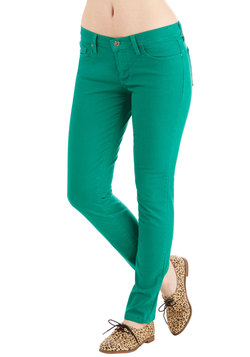 Front Row Fashionista Jeans in Green