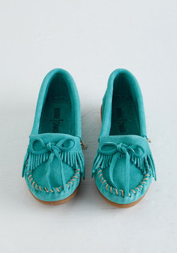 Fundamental Footwork Flat in Aqua