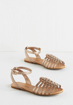 Whimsical Wanderlust Sandal in Gold