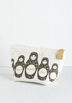 North, South, East, Nest Makeup Bag