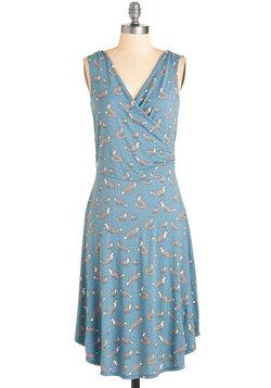 Just a Critter Bit Dress in Blue