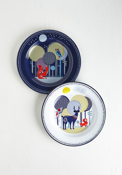 Woodland Whimsy Enamel Plate Set