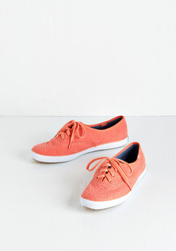 Eyelet the Good Times Roll Sneaker in Melon