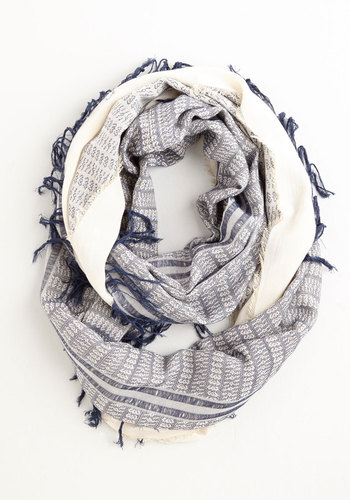 Calling for Charm Circle Scarf in Navy