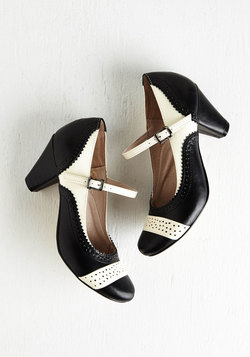Refined Your Purpose Heel in Monochrome