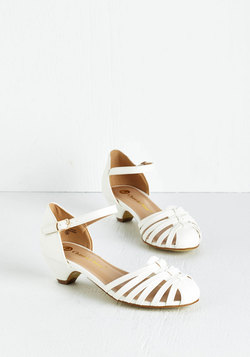 Strappy as Can Be Heel in Ivory