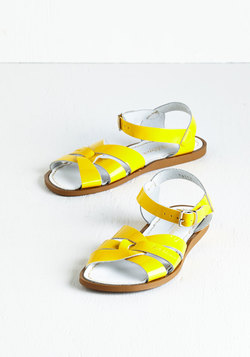 Salt Water Sandal in Yellow